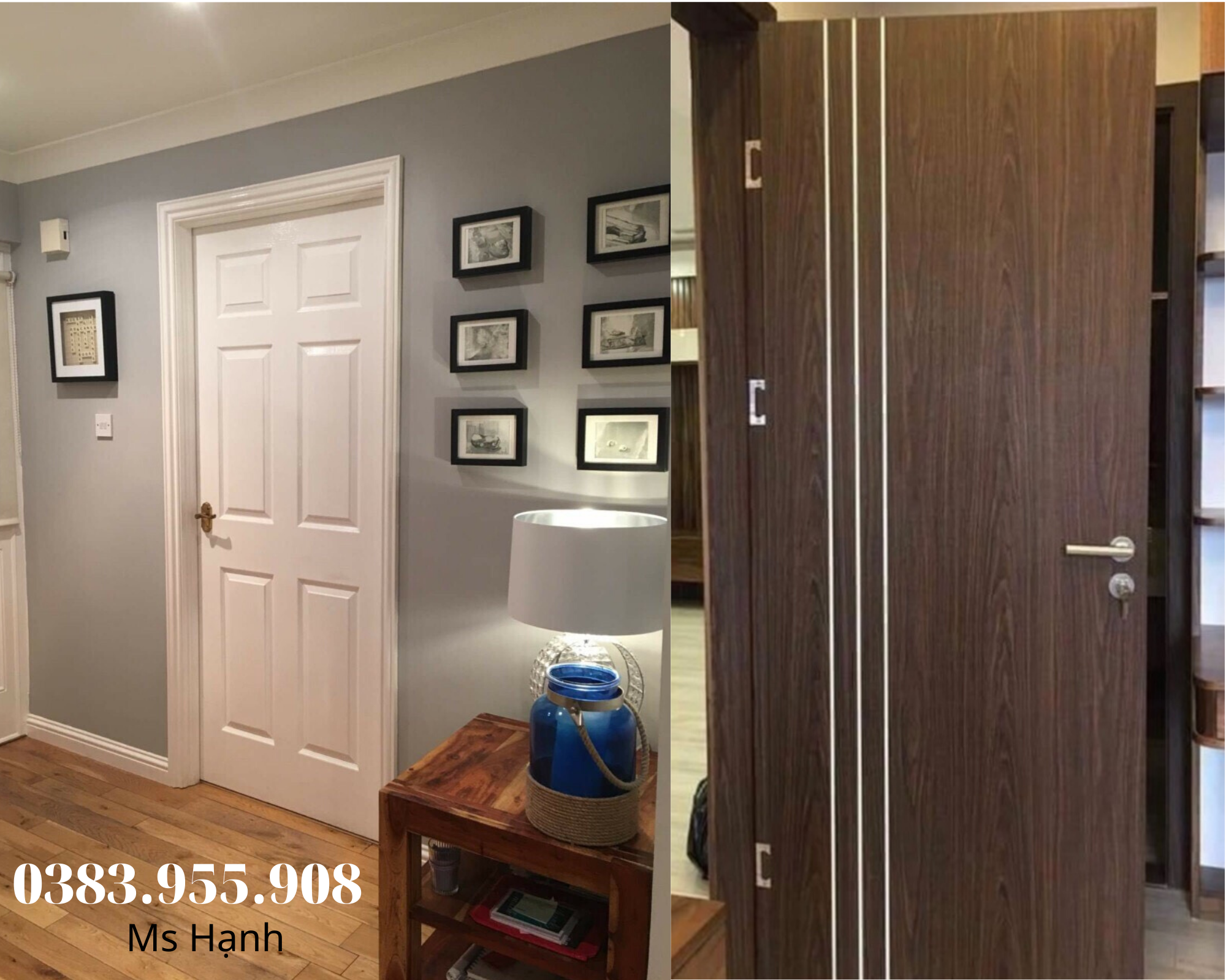 Mẫu cửa gỗ HDF sơn và MDF Melamine
