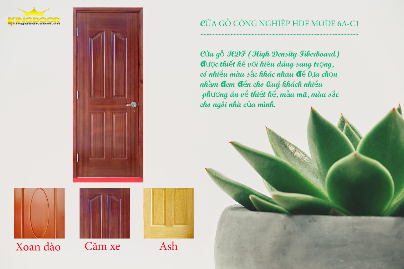 Mẫu cửa HDF veneer - Bài viết: Giá cửa gỗ công nghiệp tại Cam Lâm