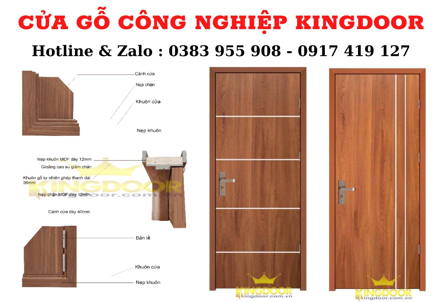 Giá cửa gỗ công nghiệp HDF và MDF tại Vũng Tàu